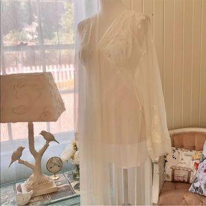 Victorias Secret Peignoir Set Chemise Gown Robe